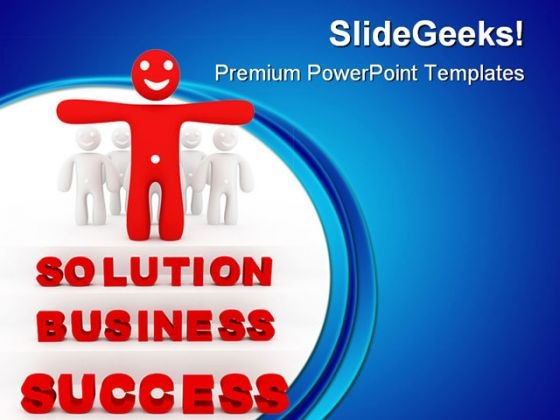 Solution Business Concept Success PowerPoint Templates And PowerPoint Backgrounds 0811