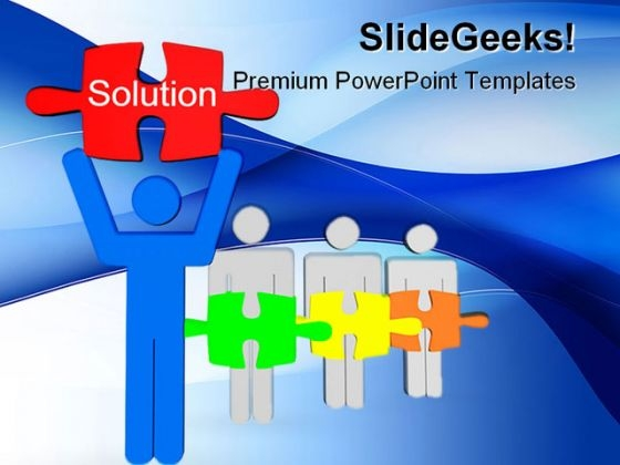 Solution Business PowerPoint Backgrounds And Templates 1210