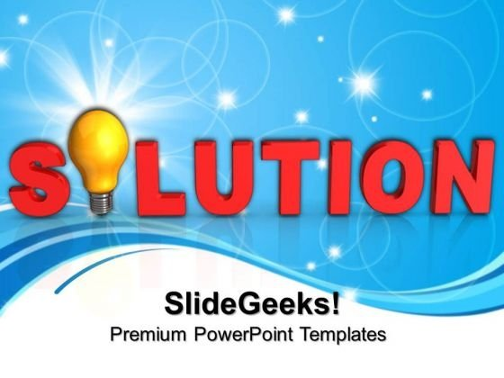 Solution Business PowerPoint Templates And PowerPoint Themes 0812