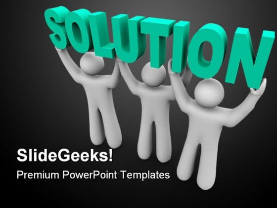 Solution Business PowerPoint Themes And PowerPoint Slides 0411