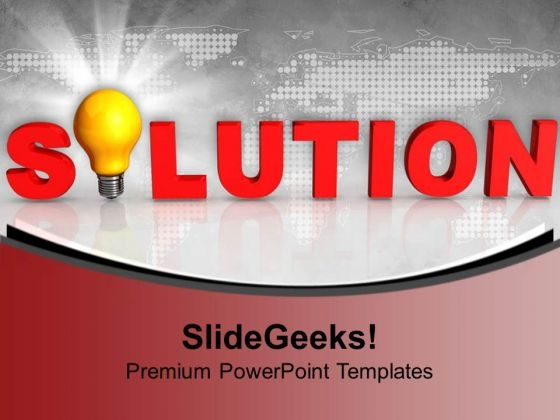 Solution Idea Business PowerPoint Templates And PowerPoint Themes 1012