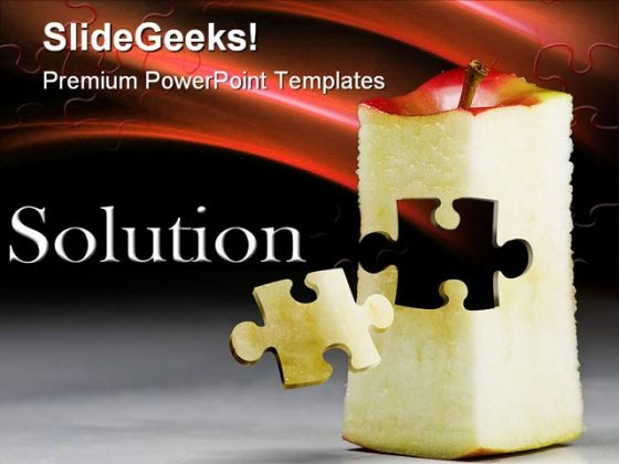 Solution Puzzle Business PowerPoint Themes And PowerPoint Slides 0411