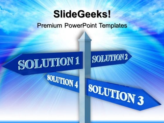 Solution Signpost Business PowerPoint Templates And PowerPoint Themes 0512