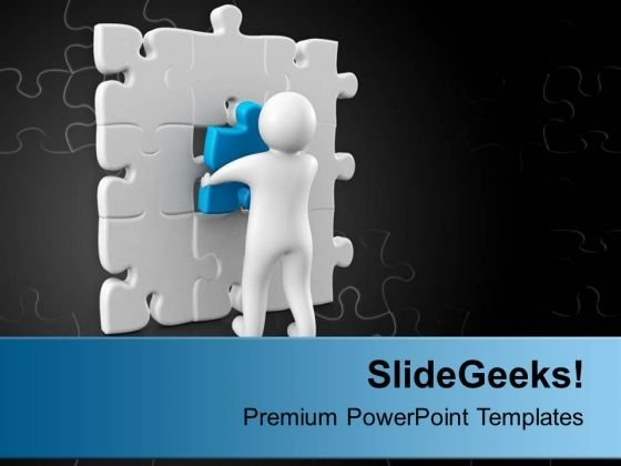 Solution With Right Part Is Important PowerPoint Templates Ppt Backgrounds For Slides 0713