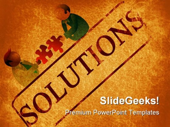 Solutions Background PowerPoint Templates And PowerPoint Backgrounds 0811