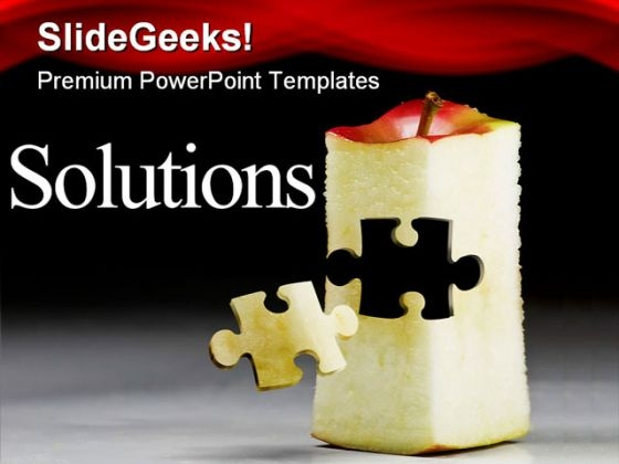 Solutions Business PowerPoint Template 0810