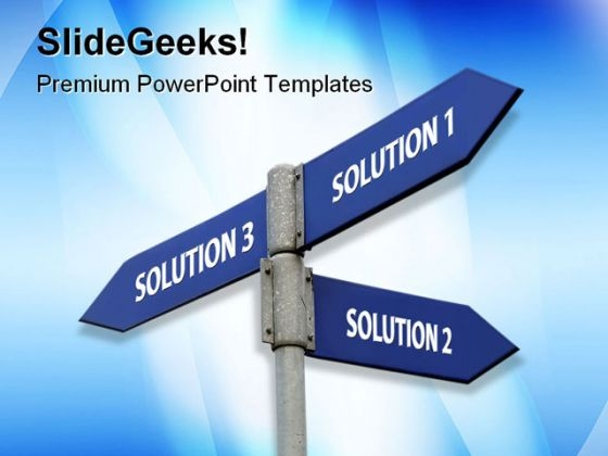 Solutions Business PowerPoint Templates And PowerPoint Backgrounds 0811