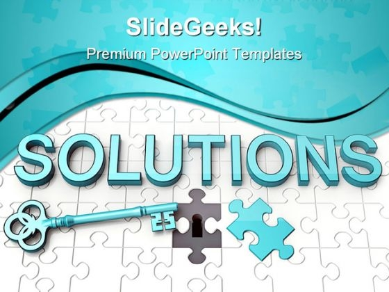 Solutions Key Security PowerPoint Templates And PowerPoint Backgrounds 0911