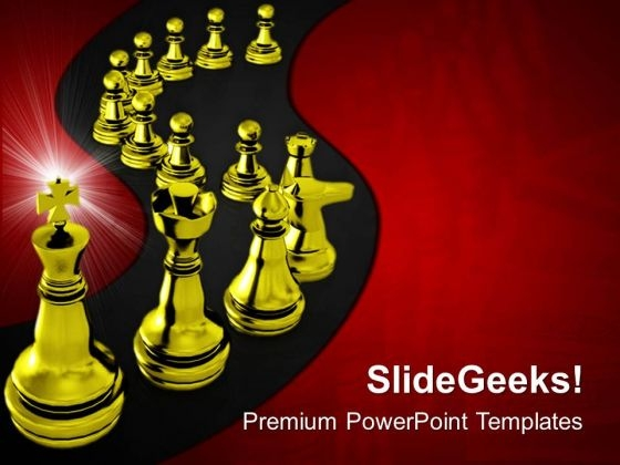 Solve Issues Like Chess Playing PowerPoint Templates Ppt Backgrounds For Slides 0713