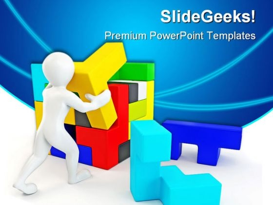 Solve Puzzles Business PowerPoint Templates And PowerPoint Backgrounds 0411