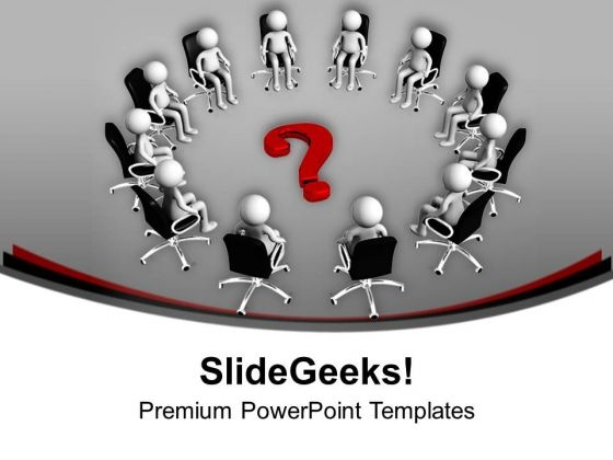 Solve The Matter In Business Meeting PowerPoint Templates Ppt Backgrounds For Slides 0413