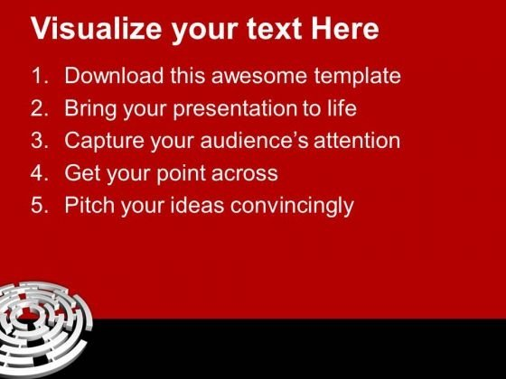 solve_the_maze_of_business_powerpoint_templates_ppt_backgrounds_for_slides_0813_text