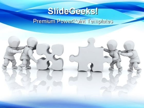 Solving Jigsaw Puzzle Business PowerPoint Themes And PowerPoint Slides 0711