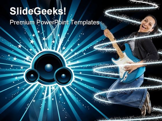 Sound Burst Music PowerPoint Themes And PowerPoint Slides 0311