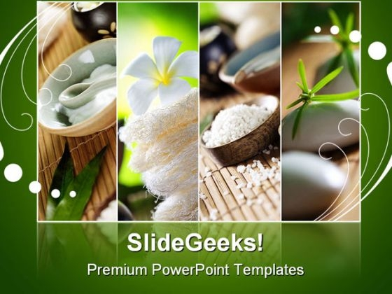 Spa Fragments Beauty PowerPoint Backgrounds And Templates 1210