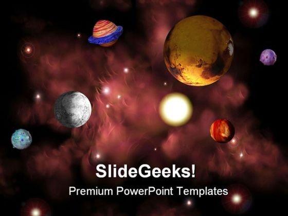 Space Earth PowerPoint Template 0610