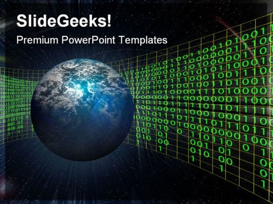Space Globe PowerPoint Themes And PowerPoint Slides 0511