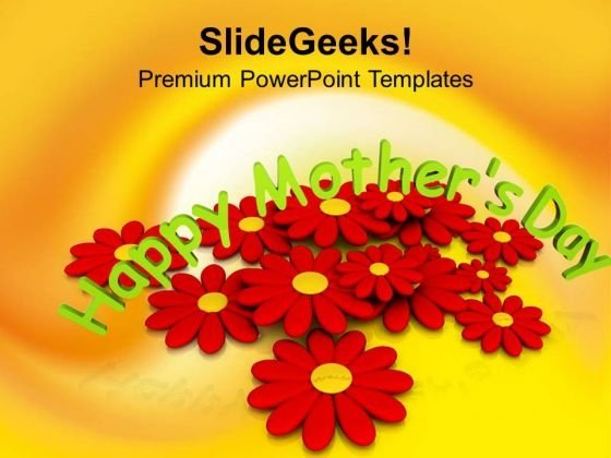 Special Mothers Day With Blooming Flowers Powerpoint Templates Ppt