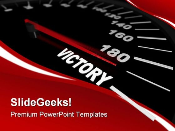 Speeding Toward Victory Success PowerPoint Templates And PowerPoint Backgrounds 0311