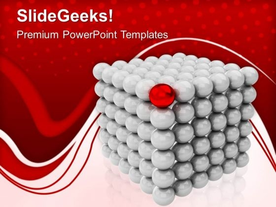 Sphere Cubes Leadership Concept PowerPoint Templates Ppt Backgrounds For Slides 0213