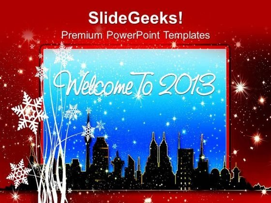 spread the wishes of new year 2013 powerpoint templates ppt