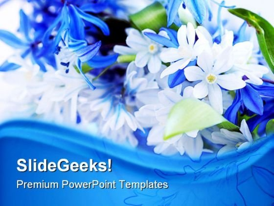 Spring Flowers Beauty PowerPoint Template 0910