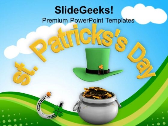 St Patricks Day Lucky Symbols Of Irish PowerPoint Templates Ppt Backgrounds For Slides 0313