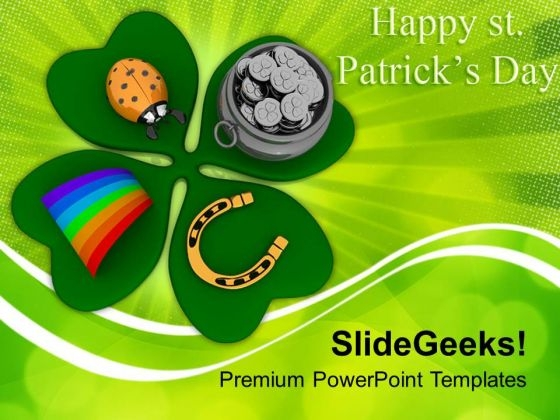 St Patricks Day Symbols Of Wealth PowerPoint Templates Ppt Backgrounds For Slides 0313