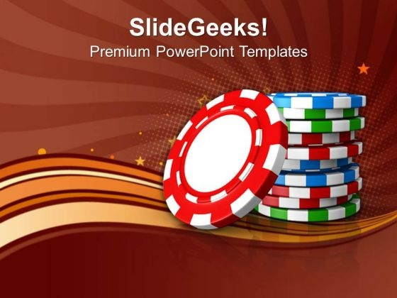 Stack Of Poker Chips Game PowerPoint Templates Ppt Backgrounds For Slides 0113