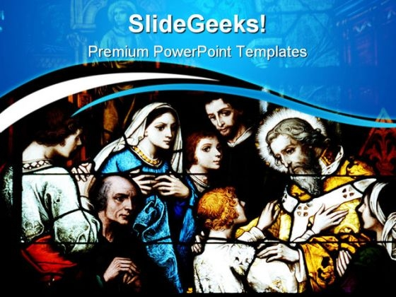 Stain Glass Window Abstract PowerPoint Themes And PowerPoint Slides 0811