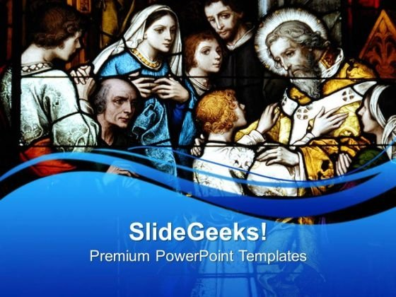 Stain Glass Window Religion PowerPoint Templates And PowerPoint Themes 0712