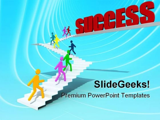 Stairs To Success Business PowerPoint Themes And PowerPoint Slides 0811