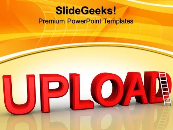 Stairs With Word Upload Business PowerPoint Templates And PowerPoint Themes 0912