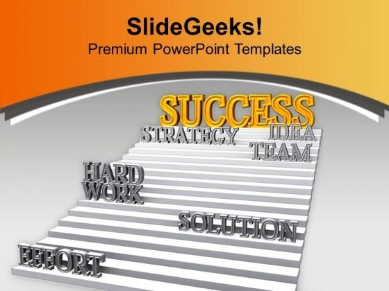 Stairway To Success Business Development PowerPoint Templates Ppt Backgrounds For Slides 0413