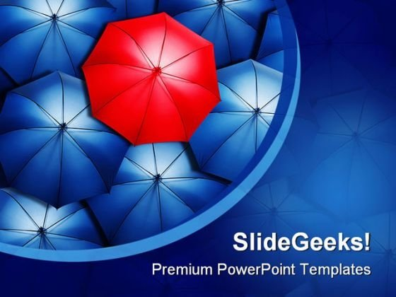 Stand Out From Crowd Business PowerPoint Themes And PowerPoint Slides 0411