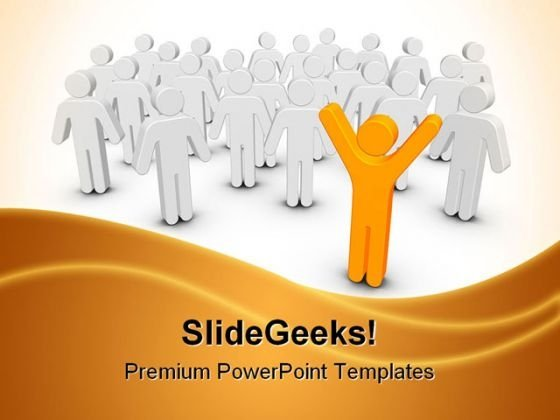 Stand Out Leadership PowerPoint Themes And PowerPoint Slides 0511