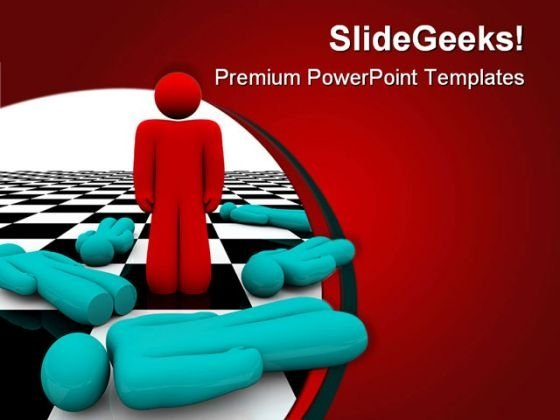 Standing Out Leadership PowerPoint Templates And PowerPoint Backgrounds 0711