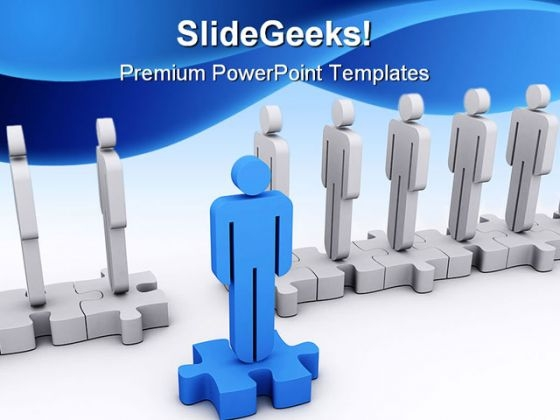 Standout Leadership PowerPoint Background And Template 1210