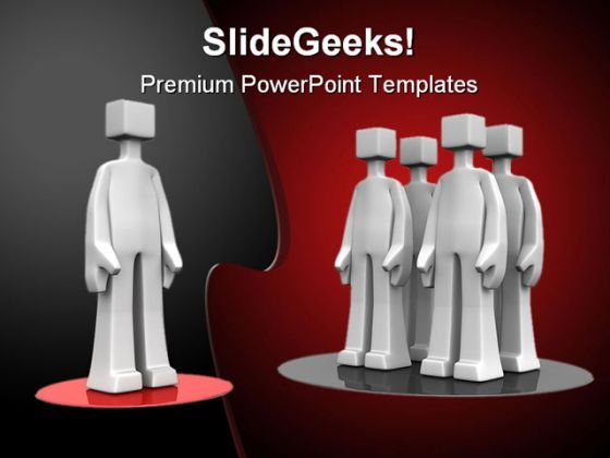 Standout People PowerPoint Template 0910