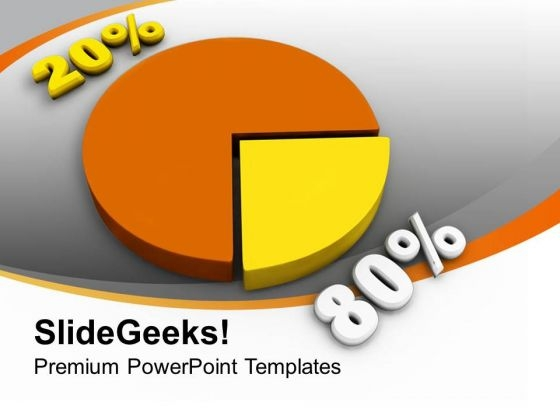 Statistical Pie Chart Financial Business PowerPoint Templates Ppt Backgrounds For Slides 0213