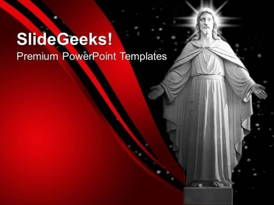Statue Of Jesus Christ Religion PowerPoint Templates And PowerPoint Themes 0712