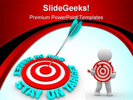 Stay On The Target Business PowerPoint Themes And PowerPoint Slides 0511