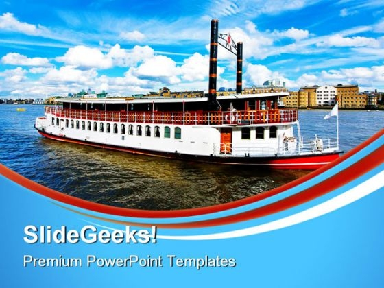 Steam Boat Beach PowerPoint Themes And PowerPoint Slides 0611