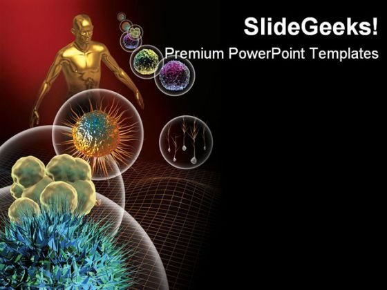 Stem Cells Medical PowerPoint Template 0910