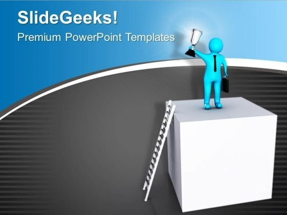 Step Forward And Win Business Race PowerPoint Templates Ppt Backgrounds For Slides 0713