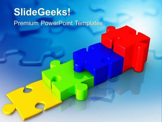 Stepping Jigsaw Puzzles Business PowerPoint Templates Ppt Backgrounds For Slides 0413