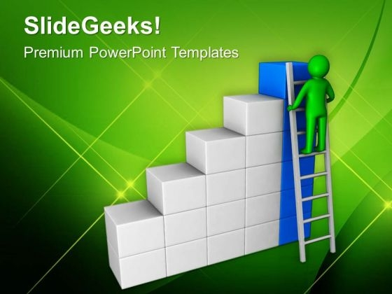 Stepping Towards Success In Business PowerPoint Templates Ppt Backgrounds For Slides 0613
