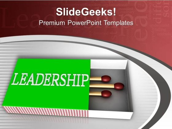 Sticks In Matchbox Leadership Image PowerPoint Templates Ppt Backgrounds For Slides 0713