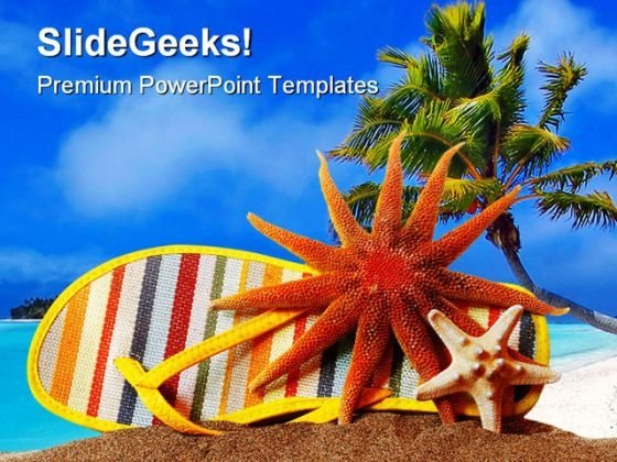 Still Life Beach PowerPoint Themes And PowerPoint Slides 0511