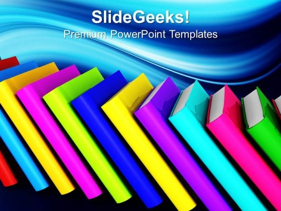 Stock Of Books Education PowerPoint Templates And PowerPoint Themes 0812